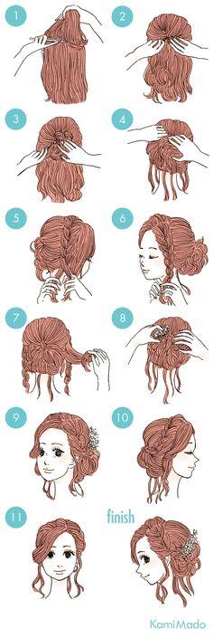 hair hairstyle updo formal elegant updo