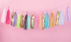 Electric Spring Tassel Garland, Balloon or Mini – Studio Mucci