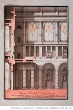 Plusieurs arcades du Panthéon consacré aux Apôtres Autor :Lequeu, Jean Jacques (1757-1825?). Dessinateur