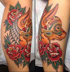 Traditional Chihuahua Americana Tattoos