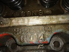 Head casting number-it was a lot of fun researching this.Turns out that this head was used on the high-performance early Corvettes with the 6-cylinder engines prior to the '55 introduction of the GM V8. Reportedly this is a highly sought-after head  for those rebuilders. Date code is Aug. 22, 1957.