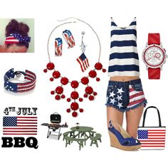 """""""4th of July Fashion Contest"""" by janet-palaggi on Polyvore"""