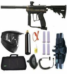 "Spyder MR100 Pro Paintball Gun Marker 4+1 9oz Sniper Set - Olive by Spyder. $171.95. Spyder MR100 4+1 Sniper Set What's in the Box 2012 Spyder MR100 Paintball Marker GXG XVSN Mask with Visor & Anti Fog Lens 3Skull 4+1 Deluxe Paintball Harness 4 - 140 Round Heavy Duty Tubes Clear 1 Ounce Premium Marker Oil 21"" Jerk Squeegee(color varies) 9 Ounce CO2 Tank(empty) 3Skull 200 Round Gravity Feed Hopper 3Skull Coiled Remote Line with QD On/Off 3Skull Padded Marker Case 2012 Spyde..."