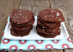NAM! Oppskrift Enkle Hjemmebakte Sjokoladecookies Havsalt Cookies Kakao Uten Egg