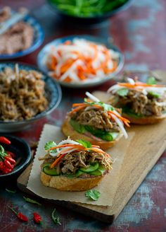 Shredded Pork Banh Mi Bites- A Take on Tapas