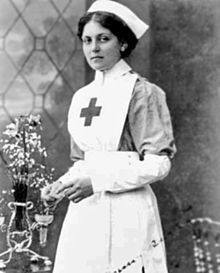 """Violet Constance Jessop (2 October 1887 – 5 May 1971) was an ocean liner stewardess who served as a ship nurse for the British Red Cross during World War I. She achieved international fame by surviving the disastrous sinkings of BOTH the RMSTitanic and the HMHSBritannic in 1912 and 1916, respectively. In addition, she had been on board the RMSOlympic, their sister ship, when it collided with the protected cruiser HMSHawke in 1911. She later wrote a memoir titled: """"Titanic Survivor""""."""