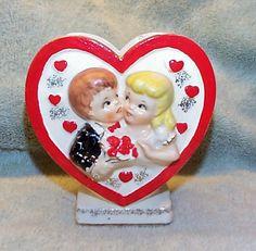 Vintage Boy and Girl Valentine Planter