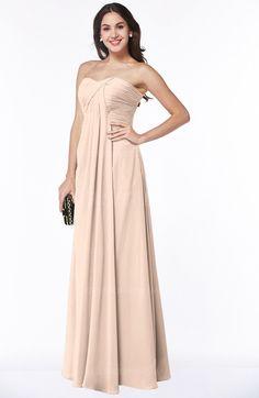 0ba640a34d Peach Puree colorsbridesmaid.com offers Simple A-line Sleeveless Zip up Floor  Length Plus