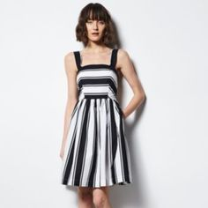 MILLY for DesigNation Striped Fit & Flare Dress - Women's
