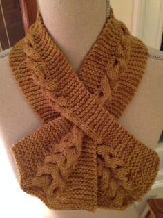 Cabled Keyhole Scarf I made from Knitspot pattern.
