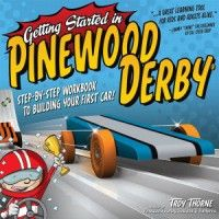 I recently received a copy of Getting Started in Pinewood Derby by Troy Thorne. This colorful workbook goes through all of the steps involved in building a car. My favorite thing about the book is that it is directed at Cub Scouts – who should be doing most of the work on their cars. It includes lots of very nice step-by-step photos, so young car builders can understand what needs to be done.