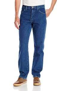 fecbb34a4473fd Maverick Men's Relaxed Fit Jean, Dark Stonewash, Work-ready blue jean in  heavyweight denim featuring four-pocket styling and relaxed fit Fits at  natural ...