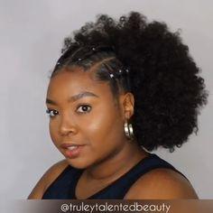 natural hair tips Protective Hairstyles For Natural Hair, Natural Hair Braids, Easy Hairstyles For Medium Hair, Braided Hairstyles, Afro Hair Hairstyles, Natural Updo Hairstyles, Bun Hairstyle, Hairstyles Videos, Natural Hair Tutorials