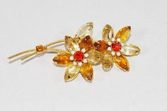 Juliana Brooch Juliana Flower Flower Pin by CommonCentsThrift