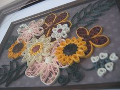 Quilling. Another view of the sunflowers