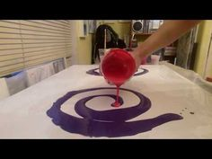 Acrylic Fluid Pouring To A Large Scale - YouTube