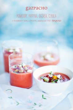 Gazpacho for the summer. Cooking Recipes, Healthy Recipes, What's Cooking, Healthy Foods, Gazpacho Recipe, Polish Recipes, Polish Food, Soup Kitchen, My Cookbook