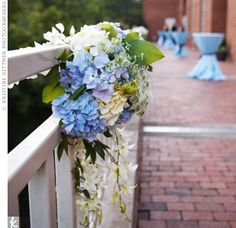 Hydrangea Reception Decor
