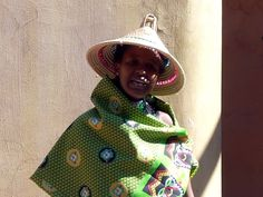 Traditional woman at Gold Reef City, Johannesburg