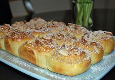 Frangipane Buns - these are an amazing sweet bun filled with almondy goodness.