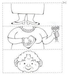 Crafts,Actvities and Worksheets for Preschool,Toddler and Kindergarten.Lots of worksheets and coloring pages. Preschool Puzzles, Preschool Worksheets, Art For Kids, Crafts For Kids, Grandparents Day Crafts, Puzzle Crafts, Family Theme, Kids Learning, Coloring Pages
