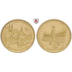 Bundesrepublik Deutschland, 100 Euro 2004, Bamberg, nach unserer Wahl, A-J, 15,55 g fein, st, J. 509: 100 Euro 15,55 g fein, 2004… #coins