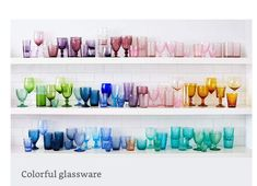 Colorful glassware, amazon.com photo