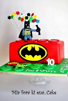 LEGO AND BATMAN CAKE
