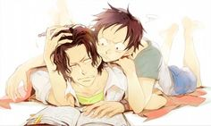 Ace and luffy  Both Look so cute here.*-*