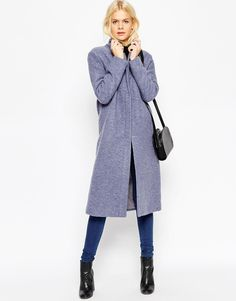 Image 1 of ASOS Coat with Zip Front