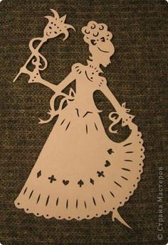 Картина панно рисунок Вырезание Женские образы Бумага фото 2
