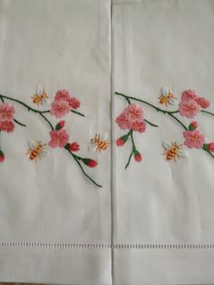 sweet embroidered hand towels