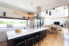 archiblox byron bay house interior kitchen living