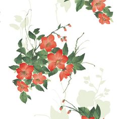 Camellia Red Flower #Self_Adhesive_Wallpapers By #wallstickery