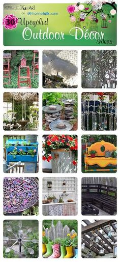 30 gorgeous up-cycled outdoor decor ideas!