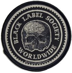 d73eae62981 Official Black Label Society Sew-on patch measuring approx in diameter  featuring the Worldwide skull design ZAKK WYLDE Bravado Officially