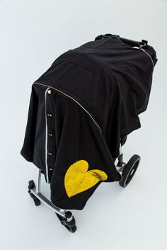 Light Weight Stroller Cover - Heart of Gold by Little Dream Bird