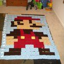 8-Bit Mario Blanket - Made from Granny Squares found my winter project