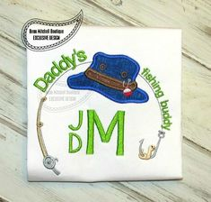 Daddy's fishing buddy applique - Beau Mitchell Boutique