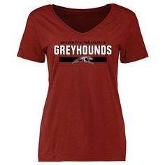 Women's Cardinal Indianapolis Greyhounds Team Strong Slim Fit T-Shirt ($22) ❤ liked on Polyvore featuring tops, t-shirts, cardinal, red t shirt, slim t shirts, red tee, red top and slim tees