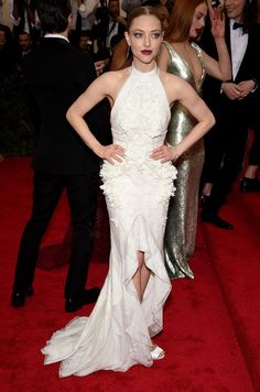 2015 Met Gala Red Carpet. Amanda Seyfried wears Givenchy.