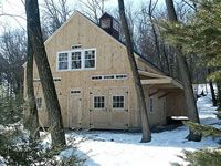 Geobarns, barn builder, specializes in artistic barns, using a modified post and beam structure to achieve a combination of strength, versatility and beauty at reasonable prices. Barn Builders, Beam Structure, Post And Beam, Modern Barn, Massachusetts, Barns, Commercial, Elegant, Building