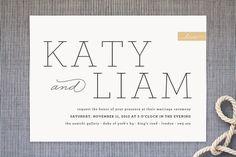 Modern Princess Wedding Invitations