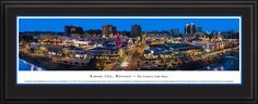 Kansas City, Missouri Panoramic -The Plaza City Skyline Panoramic Pictures & Posters