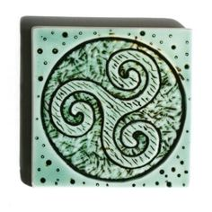 Celtic Spiral Triskele image on handmade tile in by LesperanceTile, $18.00