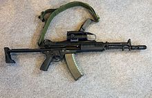AEK-971 or also known as the A-545 was the competitive replacement against the AK12 as the base firearm in the Russian military service. Wikipedia, the free encyclopedia