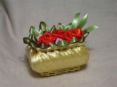 Basket made from a bar of soap and ribbons - what a great idea!
