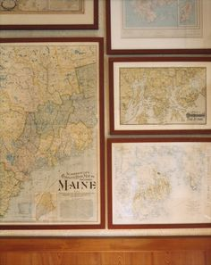 Curate maps of all of the places we've traveled and create a gallery wall.