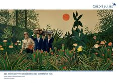 Henri Rousseau Masterpiece Recreated For Credit Suisse Ad Campaign