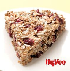 Crunchy Granola Wedges are super simple breakfast bars. Mixed berries are a fabulous substitution for cranberries.